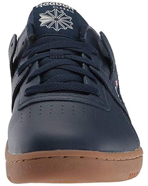 b1f83baa458 ... Reebok - Blue Workout Clean Cross Trainer for Men - Lyst ...