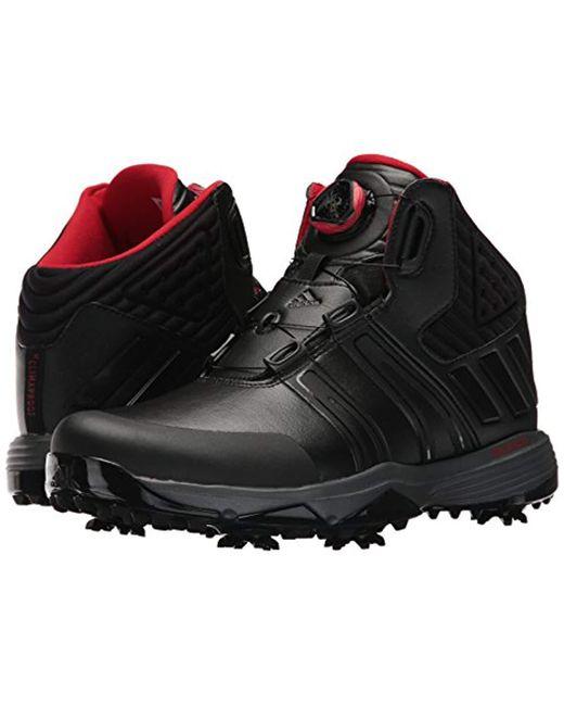 premium selection 561ff 4034c ... Adidas - Black Climaproof Boa Golf Shoe for Men - Lyst ...