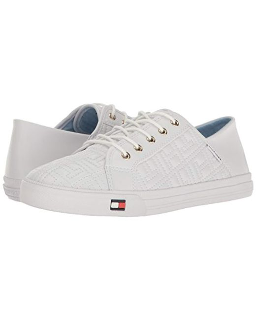485352fb654715 Lyst - Tommy Hilfiger Aleeh Sneaker in White - Save 45.76271186440678%