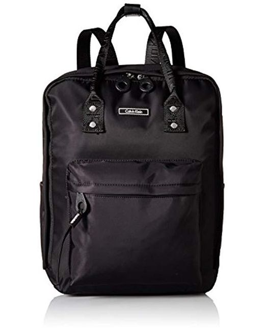 e705aaafa Calvin Klein Echo Nylon Backpack in Black - Save 36% - Lyst