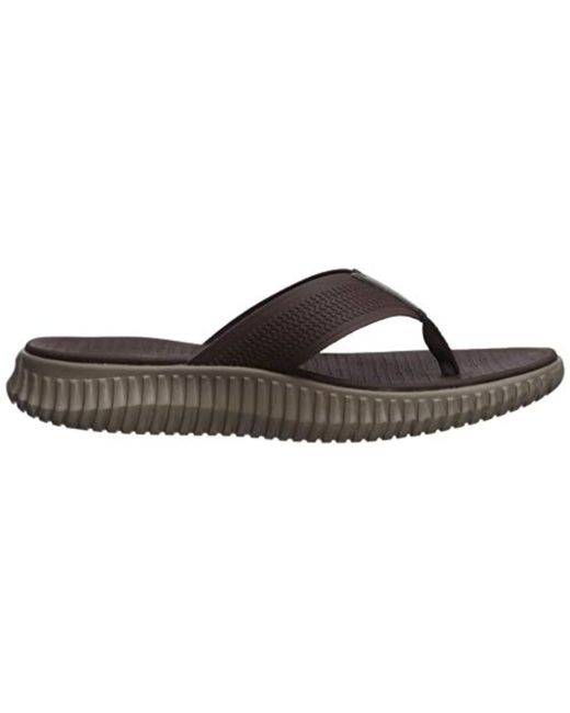a569478d86ba ... Skechers - Brown Elite Flex- Coastal Mist Flip Flops for Men - Lyst ...
