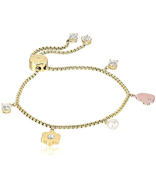 Michael Kors - Metallic S In Full Bloom Multi Charm Slider Bracelet - Lyst