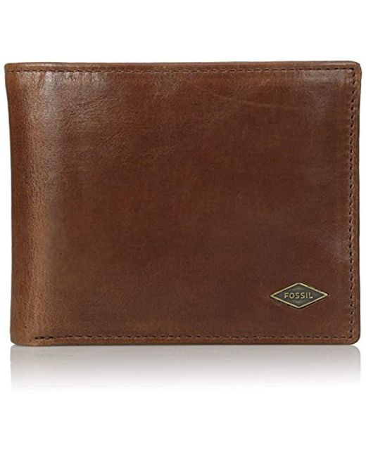 Fossil - Brown International Combination Wallet for Men - Lyst