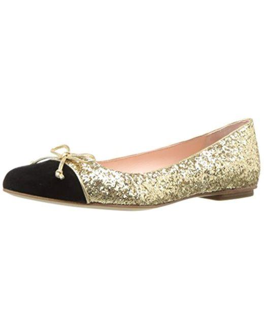 f74ba12c5ef1 Lyst - Kate Spade Nella Ballet Flat in Metallic - Save 55%