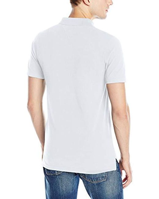 3ad8df40 ... Tommy Hilfiger - White Denim Polo Shirt Original Flag With Short  Sleeves for Men - Lyst