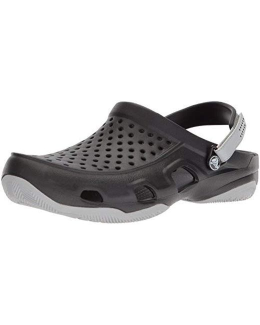94d14aab49d71 Lyst - Crocs™ Swiftwater Deck Clog in Black for Men - Save 32%