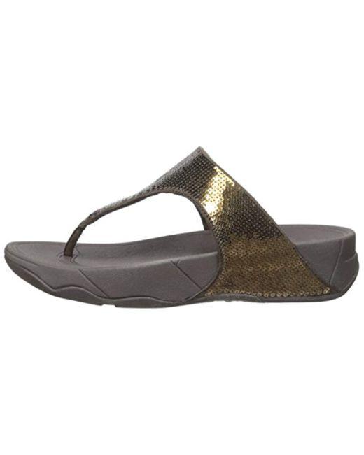 a4dd580bc4ff3c ... Fitflop - Multicolor Electra Classic Sequin Flip-flop Sandal - Lyst ...