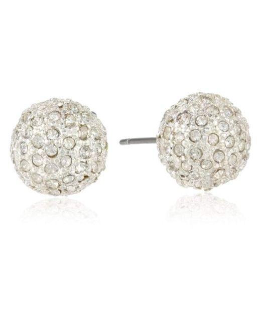 "Anne Klein - Metallic ""classics"" Silver-tone Fireball Stud Earrings - Lyst"