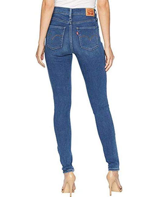 1ceca1474fd Lyst - Levi s 720 High Rise Super Skinny Jeans in Blue - Save 44%
