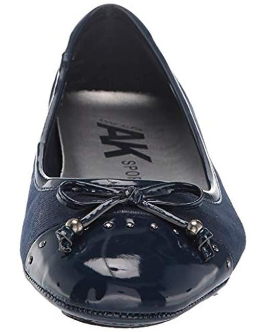 Lyst - Anne Klein Buttons Flat Ballet in Blue