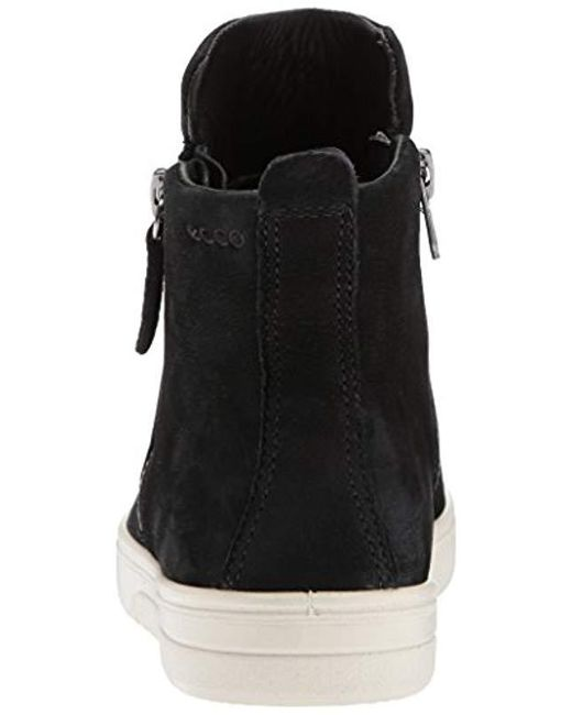 3cfc17bab30d6 Lyst - Ecco Fara Zip Bootie Fashion Sneaker in Black - Save 5%