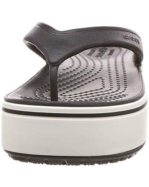 12889aa73741 ... Crocs™ - Black Crocband Platform Flip Flop - Lyst ...