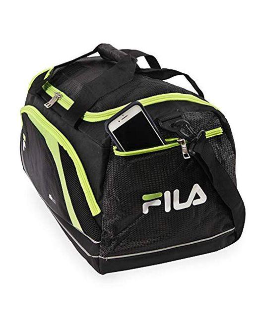ca973f41242e ... Fila - Black Advantage Small Travel Gym Sport Duffel Bag for Men - Lyst  ...