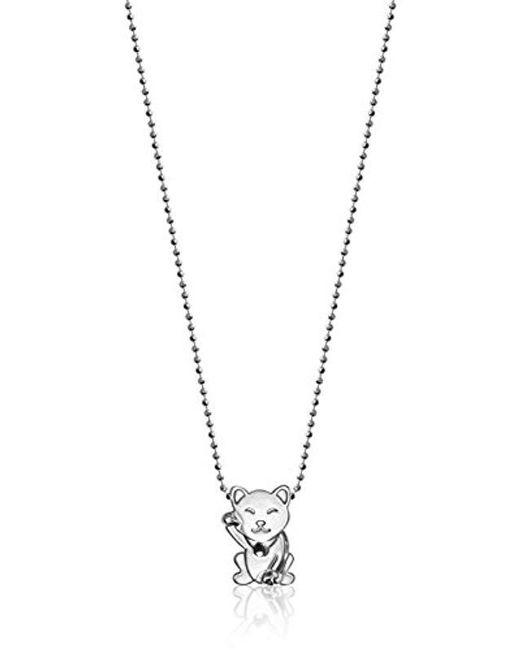 "Alex Woo - Metallic ""little Luck"" Cat Pendant Necklace - Lyst"