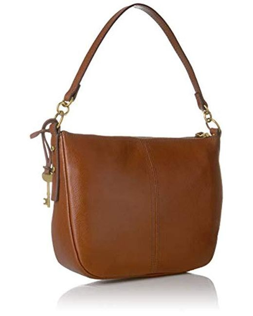 1dcc0c32f ... Fossil - Brown Jolie Leather Crossbody Bag - Lyst ...