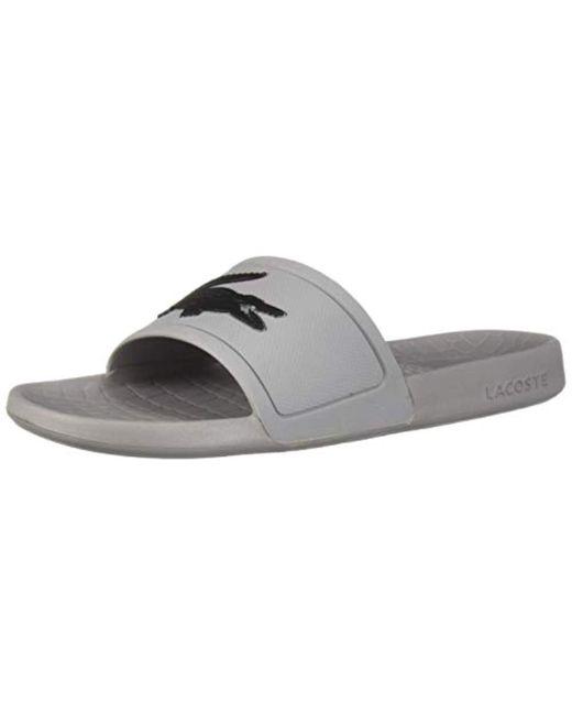 ad496fa09 Lyst - Lacoste Fraisier Slide Sandal in Gray for Men - Save 41%