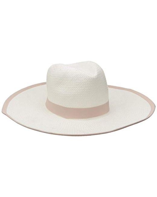 BCBGMAXAZRIA - White Ribbon Floppy Hat - Lyst