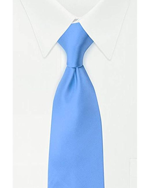 Geoffrey Beene - Blue Satin Solid Tie for Men - Lyst