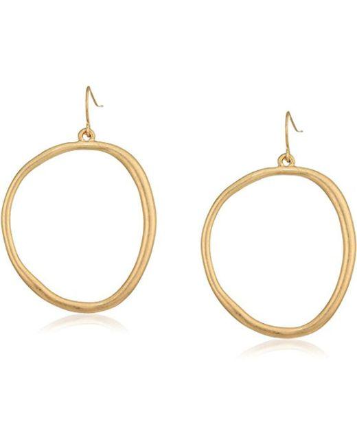 The Sak - Metallic Large Hoop Drop Earrings - Lyst