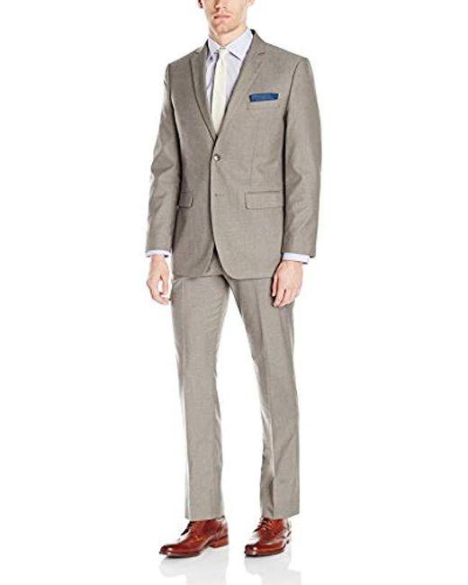Perry Ellis - Multicolor Two Button Slim Fit Solid Suit for Men - Lyst ... 233b827c0