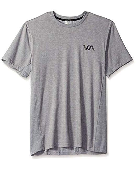 RVCA - Gray Va Vent Short Sleeve Top for Men - Lyst