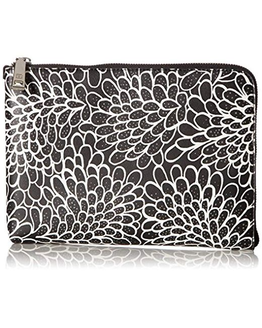 Ivanka Trump - Rio Tech Clutch (comes Boxed With Battery Charging Pack) -black Dahlia Outline - Lyst