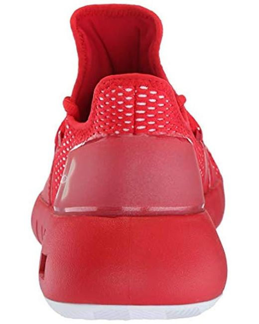 75d7295d40b ... Under Armour - Red Hovr Havoc Low Basketball Shoe for Men - Lyst ...