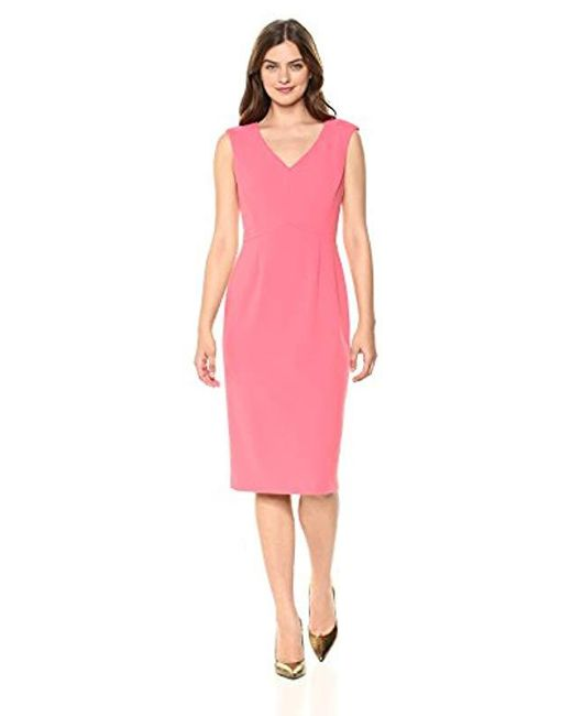 4fb44b61 Lyst - Ivanka Trump Scuba Crepe Compression Dress in Pink - Save 4%