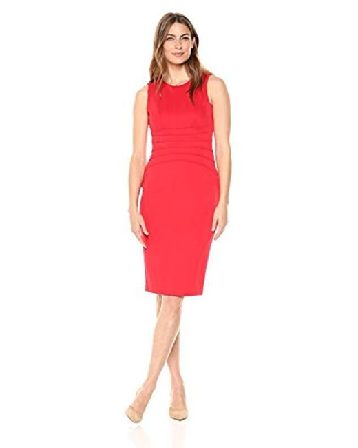 37732de5eea Lyst - Ivanka Trump Sleeveless Sheath Dress in Red - Save 24%