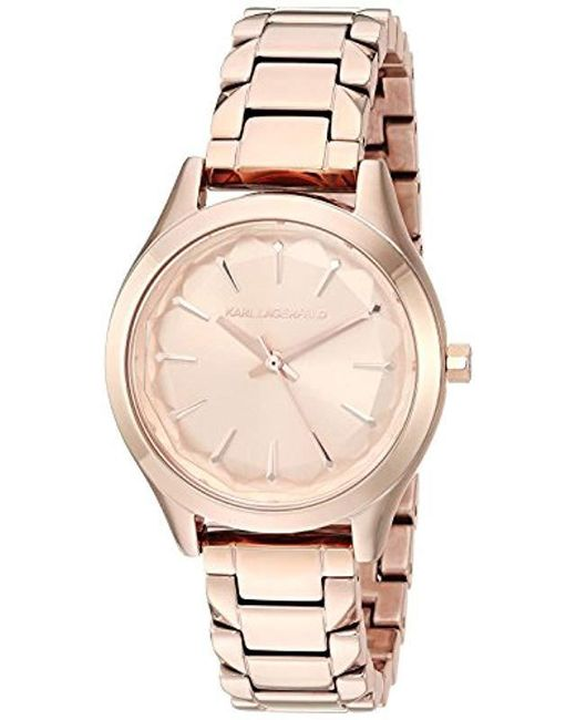Karl Lagerfeld - Metallic Janelle Quartz Stainless Steel Watch, Color: Rose Gold-tone (model: Kl1615) - Lyst