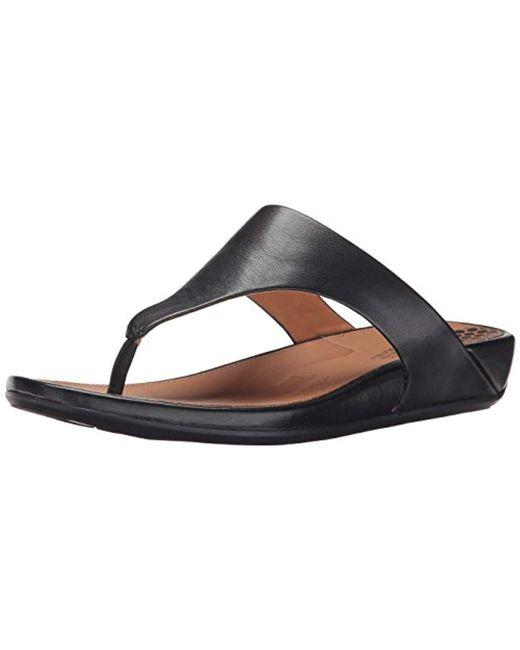 171bb9bb1 Fitflop - Black Banda Ii Toe-thong Sandals-leather Open - Lyst ...