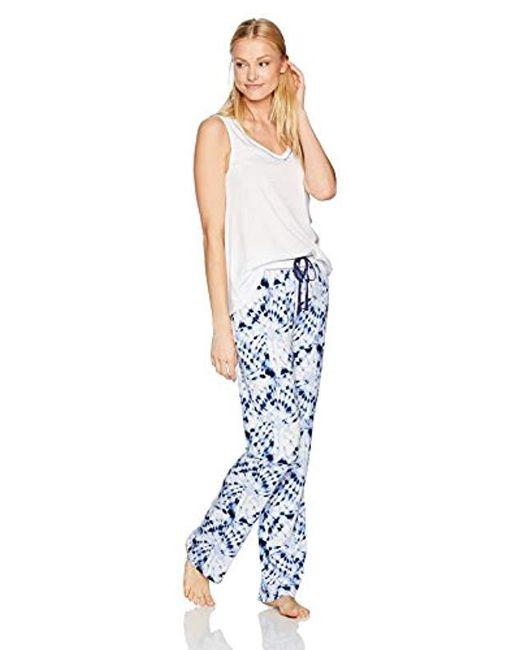 Mae - Blue Sleepwear Swing Tank Pajama Set - Lyst