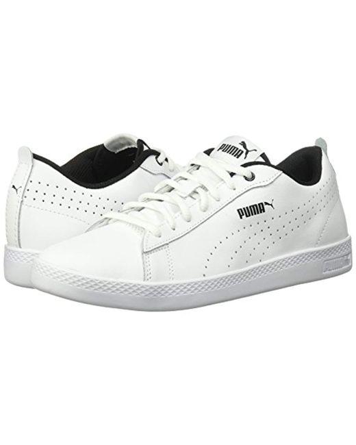 ... PUMA - White Smash Wns V2 Leather Perf Sneaker for Men - Lyst ... 1666f94e7