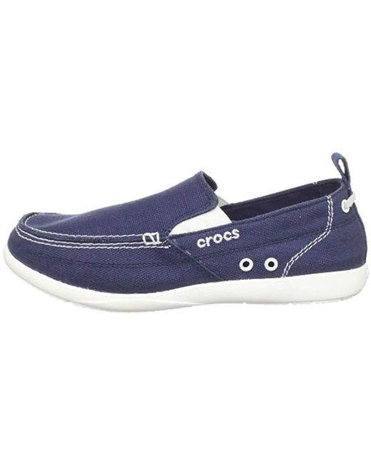 f46af1a30a7 Lyst - Crocs™ Walu Canvas Slip-on Loafer in Blue for Men - Save 37.5%
