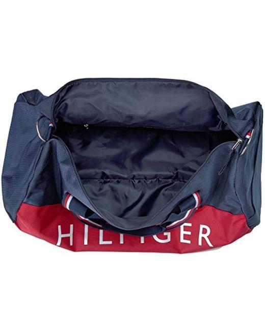 2d275b068c ... Tommy Hilfiger - Blue Duffle Bag Tommy Patriot Colorblock - Lyst ...