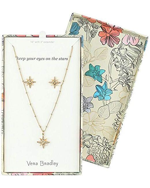 Vera Bradley - Metallic S Sparkling Star Earring Jewelry Set, Gold Tone - Lyst