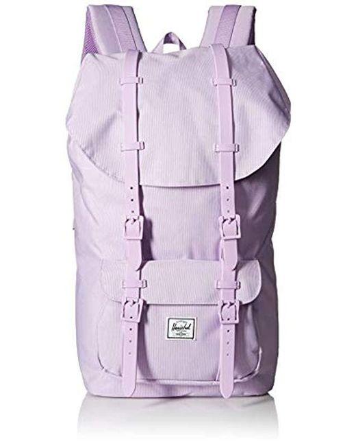 a60a18f24db Herschel Supply Co. - Purple Little America Backpack for Men - Lyst ...