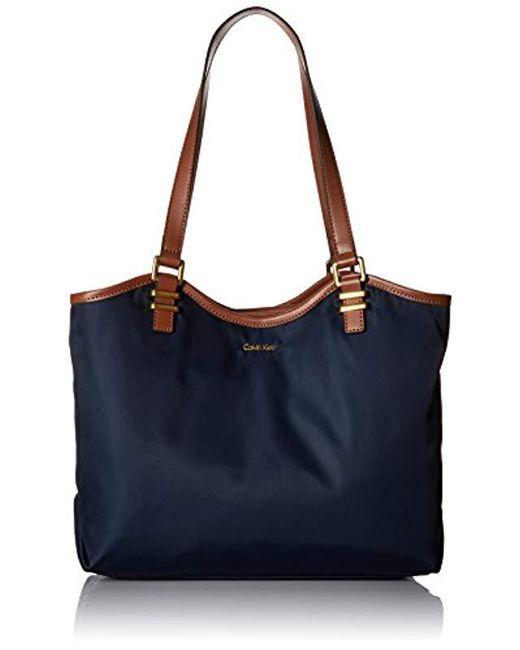 Calvin Klein - Blue Nylon North/south Tote - Lyst