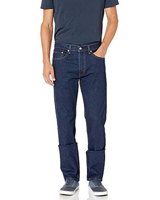 Levi's Blue 505 Regular Fit-jeans for men