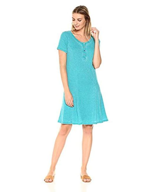 G.H.BASS - Blue . Faded Waffle Dress - Lyst