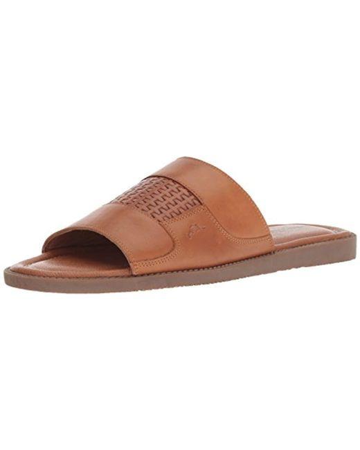 9e0ef5aea Tommy Bahama - Brown Gennadi Palms Slide Sandal for Men - Lyst ...