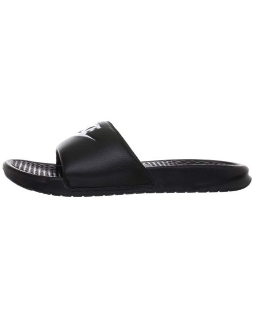 80abd16d6cdfc ... Nike - Black Benassi Just Do It Athletic Sandal for Men - Lyst ...