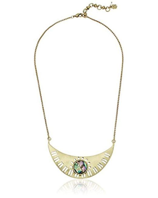 Lucky Brand - Metallic Abalone Collar Necklace - Lyst