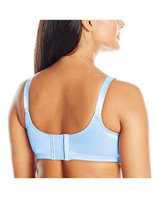 a2e2d8e632 Lyst - Bali Double-support Wire-free Bra  3820 in Blue - Save ...