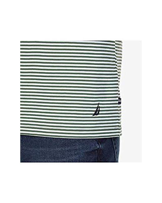 685d4e0ce5 ... Nautica - Multicolor Short Sleeve Slim Fit Striped Crew Neck T-shirt  for Men -