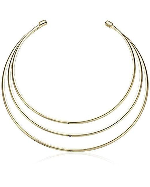 Guess - Metallic Ig Metal Choker Necklace, Gold - Lyst