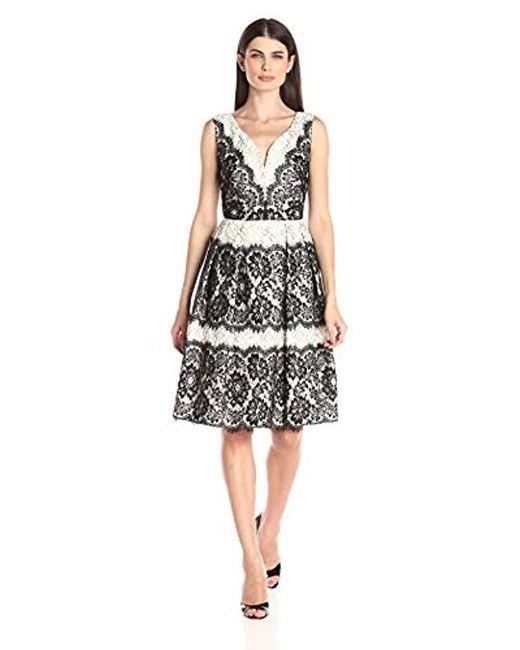 Ivanka Trump - Black Lace Flare Dress - Lyst