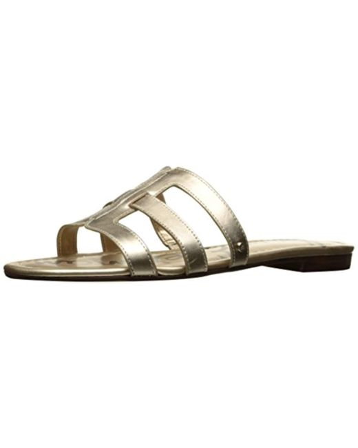 4f3a7f7530a Lyst - Sam Edelman Berit Slide Sandal in Metallic - Save 15%