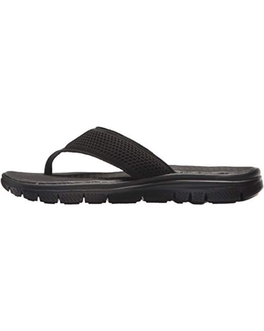 6d410386d226 ... Skechers - Black Sport Flex Advantage S Crommelin Flip-flop