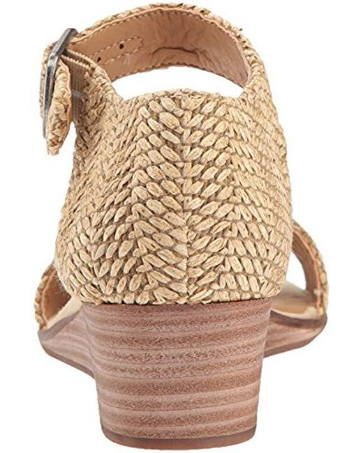 4736850d34 Lucky Brand Riamsee Wedge Sandal in Natural - Lyst